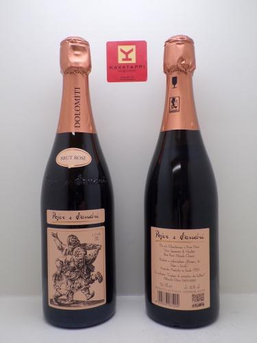 POJER e SANDRI *BRUT ROSE* vino spumante di qualita brut rose metodo classico