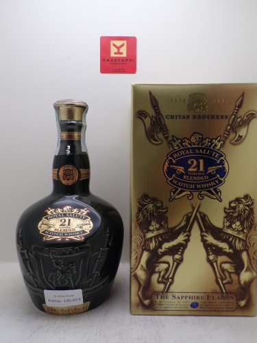 CHIVAS BROTHERS *WHISKY ROYAL SALUTE* blended scotch whisky 40° (bottiglia in porcellana astucciato)