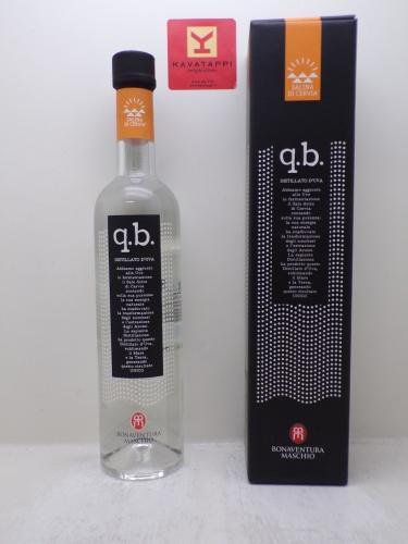 BONAVENTURA MASCHIO *Q.B.* distillato d´uva al sale di cervia 39° (astucciato)