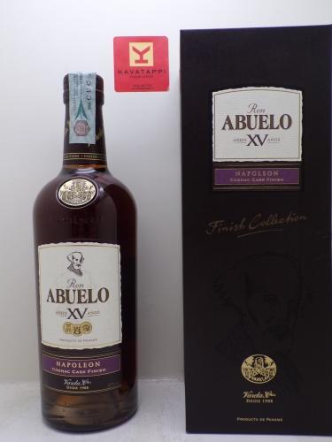 RUM *ABUELO XV NAPOLEON* affinato in botti da cognac 40° (astucciato)