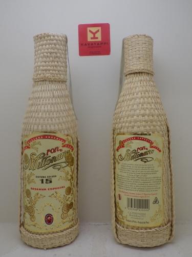MILLONARIO *RUM SOLERA* 40° (bottiglia impagliata)