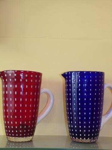 ZAFFERANO *CARAFFA PERLE* colore rosso e blu cl 160