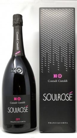 CONTADI CASTALDI *MAGNUM SOULROSE* franciacorta docg brut rose (astucciato)