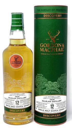 GORDON e MACPHAIL *WHISKY BALBLAIR* single malt scotch whisky bourbon cask matured 43° (astucciato)