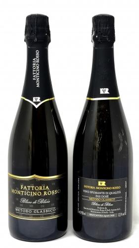 FATTORIA MONTICINO ROSSO *BLANC DE BLANC* vino spumante di qualità pas dosè da uve albana